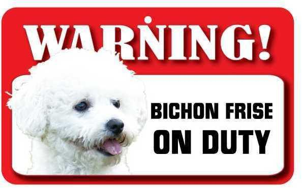 DS008 Bichon Frise Pet Sign