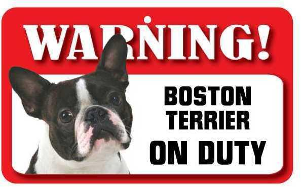 DS011 Boston Terrier Pet Sign