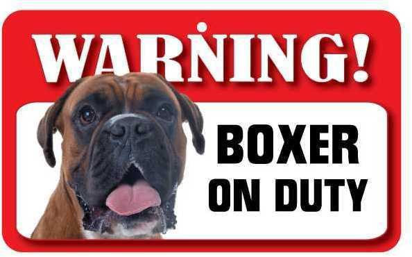 DS012 Boxer Pet Sign