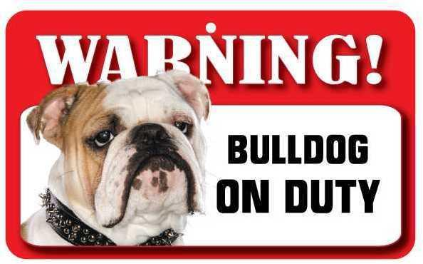DS013 Bulldog Pet Sign