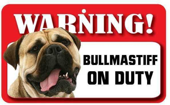 DS014 Bull Mastiff Pet Sign