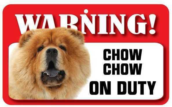 DS021 Chow Chow Pet Sign