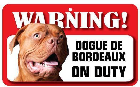 DS028 Dogue De Bordeaux Pet Sign