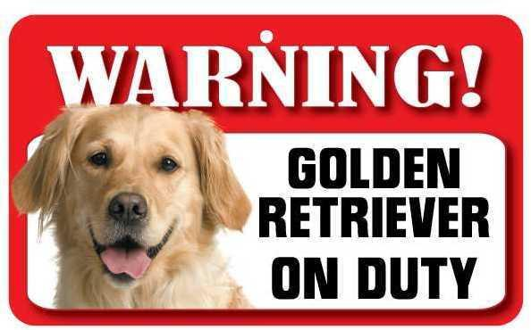 DS034 Golden Retriever Pet Sign