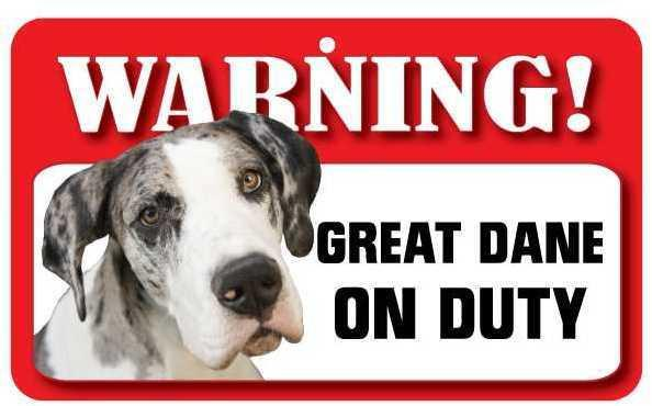 DS035 Great Dane Pet Sign