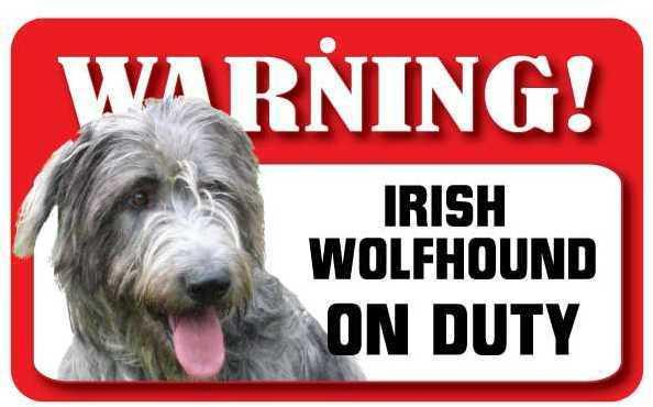 DS039 Irish Wolf Hound Pet Sign