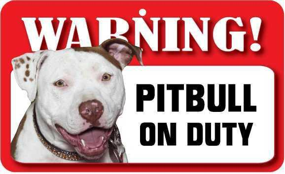DS057 Pitbull Pet Sign
