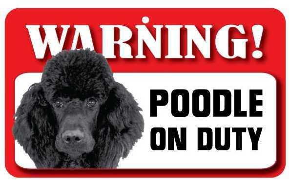 DS059 Black Poodle Pet Sign