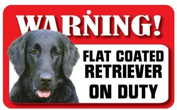 DS063 Flat Coated Retriever Pet Sign