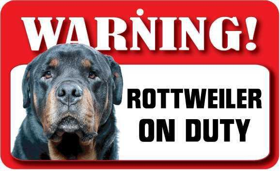 DS064 Rottweiler Pet Sign