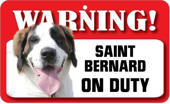 DS065 Saint Bernard Pet Sign