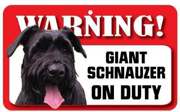 DS067 Giant Schnauzer Pet Sign