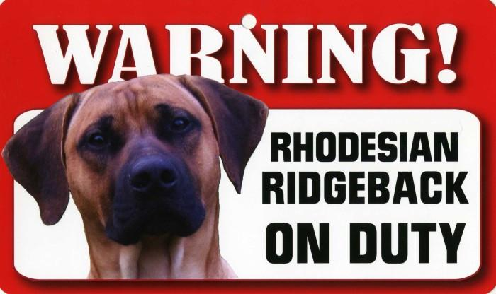 DS070 Rhodesian Ridgeback Pet Sign