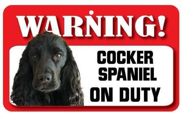 DS073 Cocker Spaniel Pet Sign