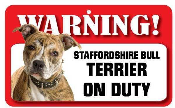 DS075 Staffordshire Bull Terrier Pet Sign