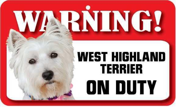 DS079 West Highland Terrier Pet Sign