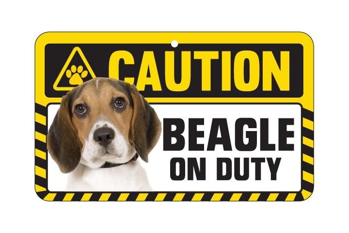 Beagle Hound Caution  Sign