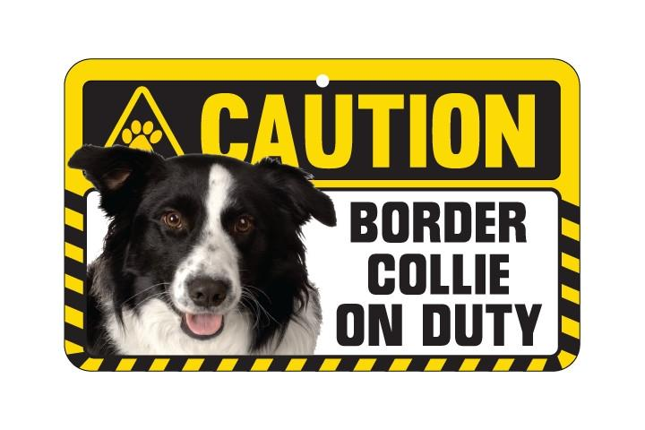 Border Collie Caution  Sign