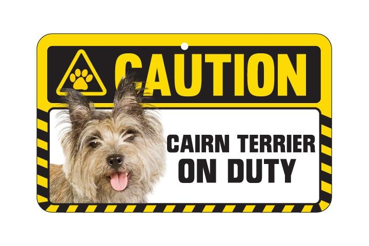 Cairn Terrier Caution  Sign
