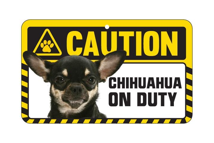 Chihuahua Multi Coloured Caution Sign
