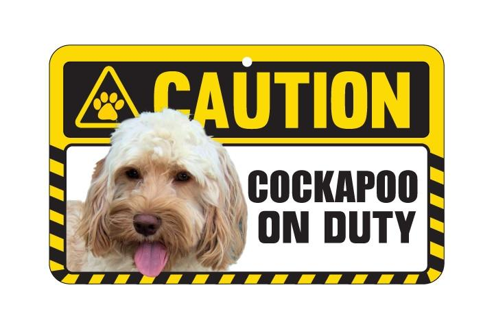 Cockerpoo Caution Sign
