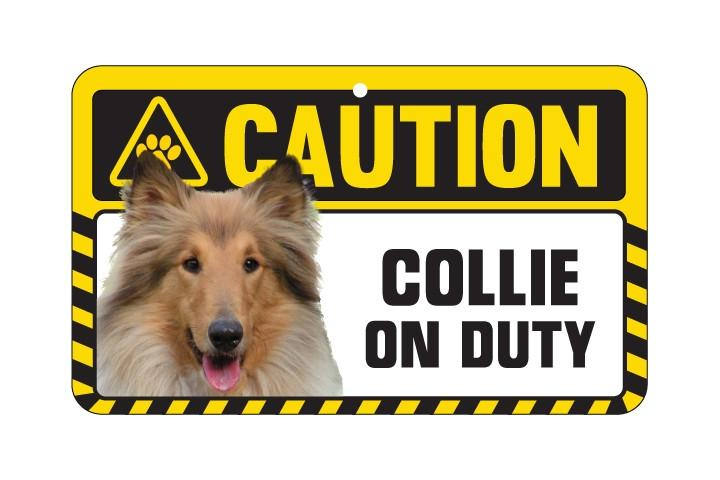 Collie (Rough) Caution Sign