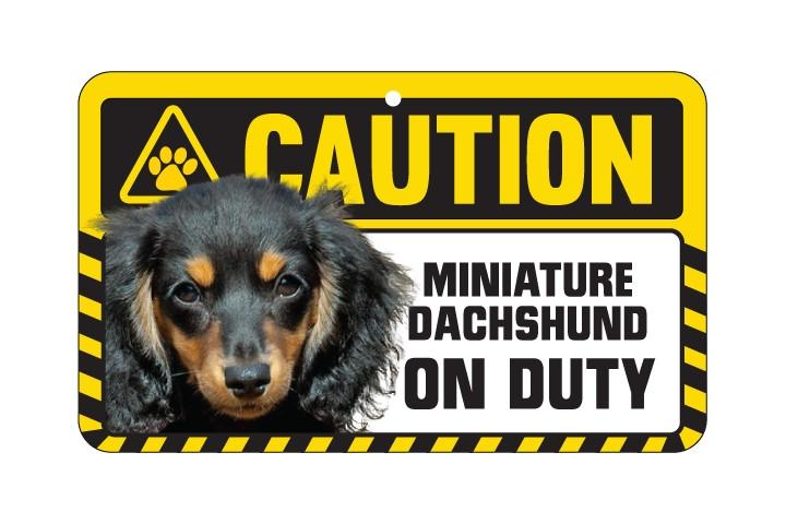 Dachsund Long  Haired Caution Sign