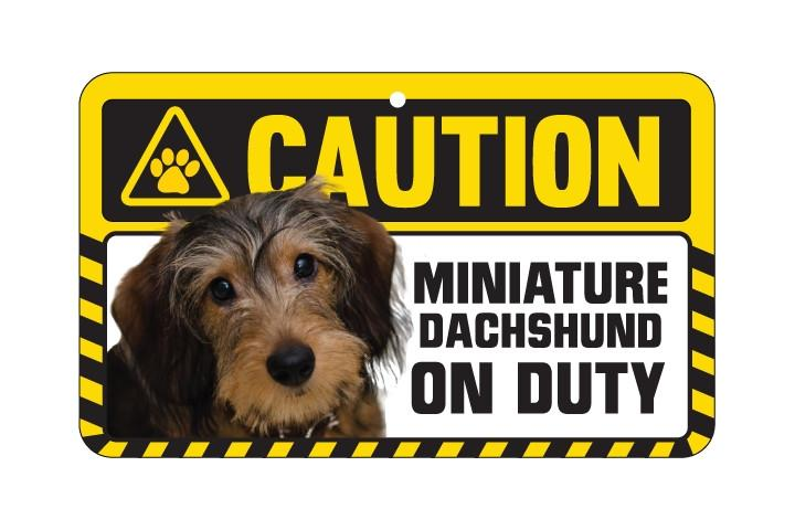 Dachshund Wire Caution Sign