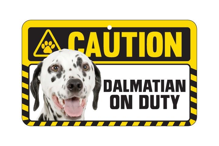 Dalmatian  Caution Sign