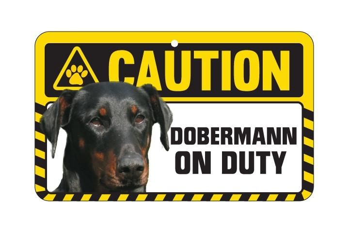 Dobermann  Caution Sign