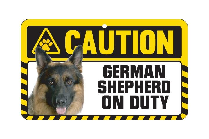 German Shepard Caution Sign
