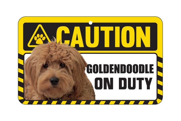 Goldendoodle Caution Sign
