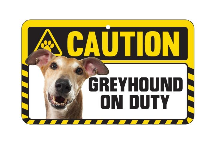 Greyhound Caution Sign