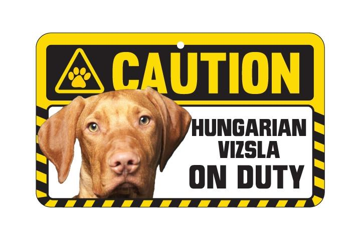 Hungarian Vizsla Caution Sign
