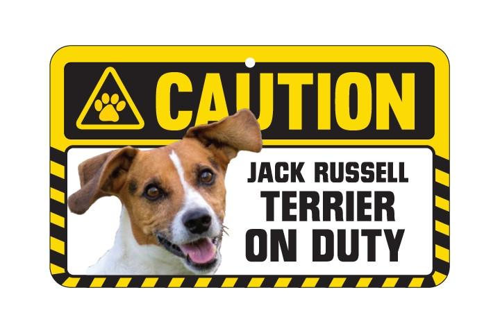 Jack Russell Caution Sign