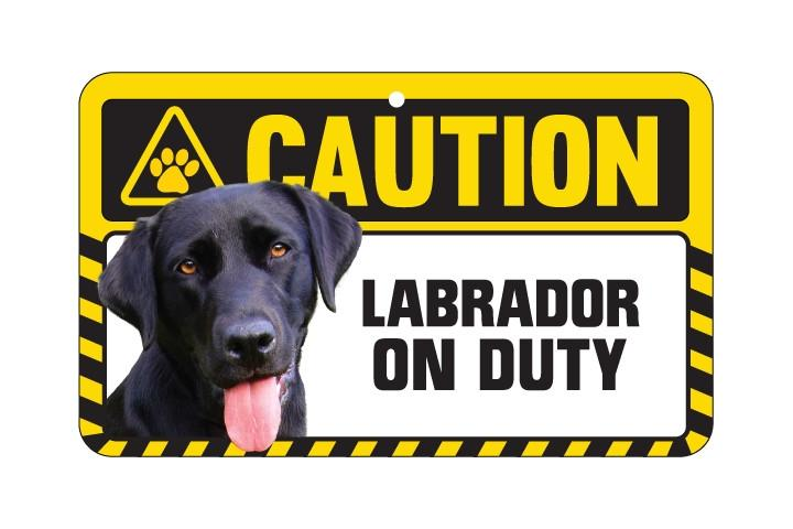 Labrador Black Caution Sign