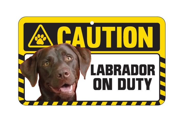 Labrador Brown Caution Sign
