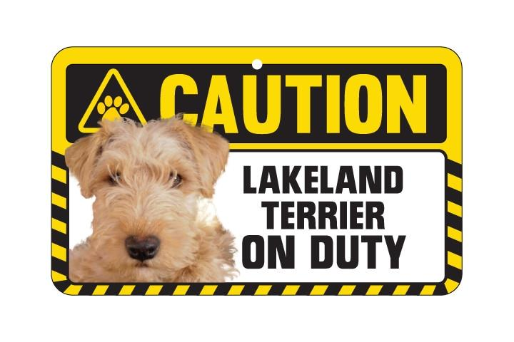 Lakeland Terrier Caution Sign