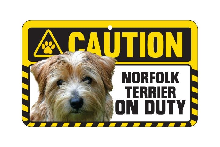 Norfolk Terrier Caution Sign