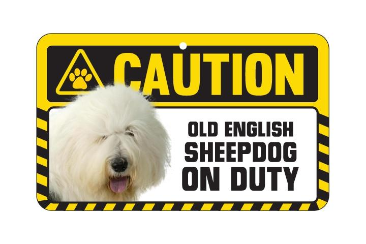 Old English Sheepdog Caution Sign