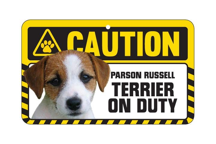 Parson Russell Terrier Caution Sign
