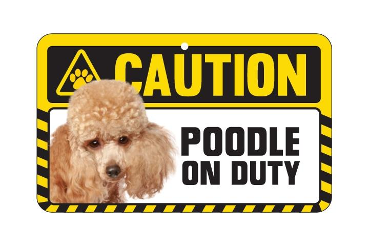 Poodle (Toy) Caution Sign