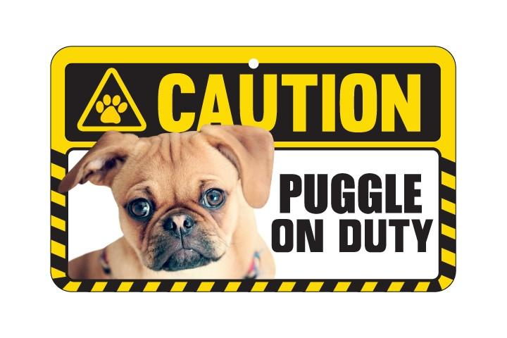 Puggle Caution Sign
