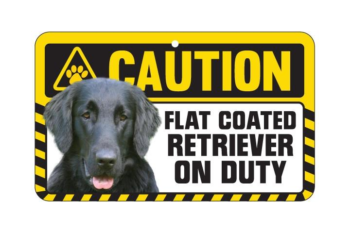Retriever (Flat Coated)  Caution Sign