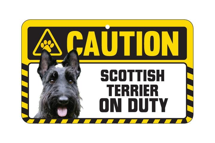Scottish Terrier Caution Sign