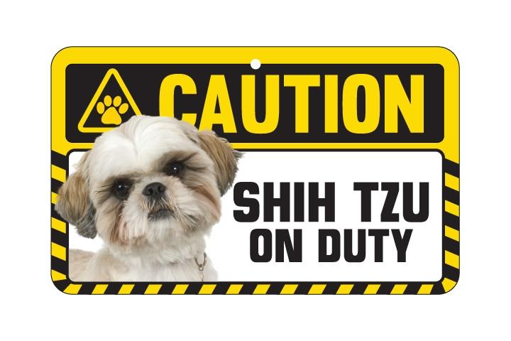 Shih Tzu Caution Sign