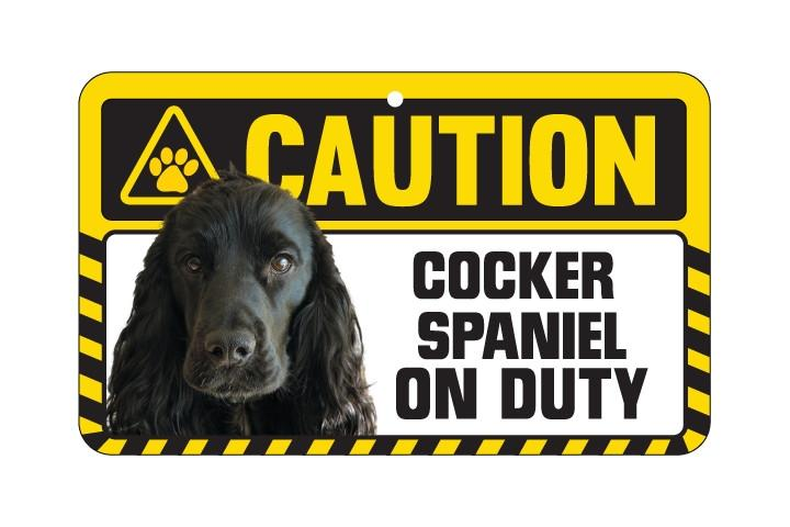Spaniel (Cocker) Caution Sign