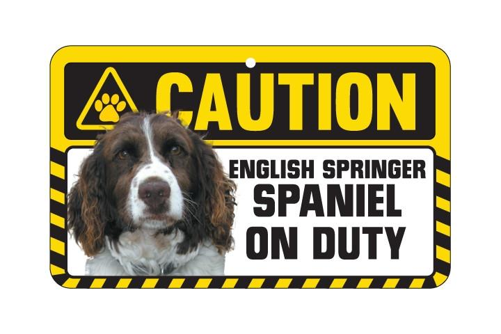 Spaniel (English Springer) Caution Sign