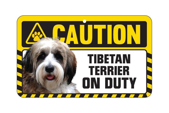 Tibetan Terrier Caution Sign