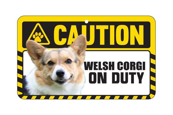 West Corgi Pembroke Caution Sign